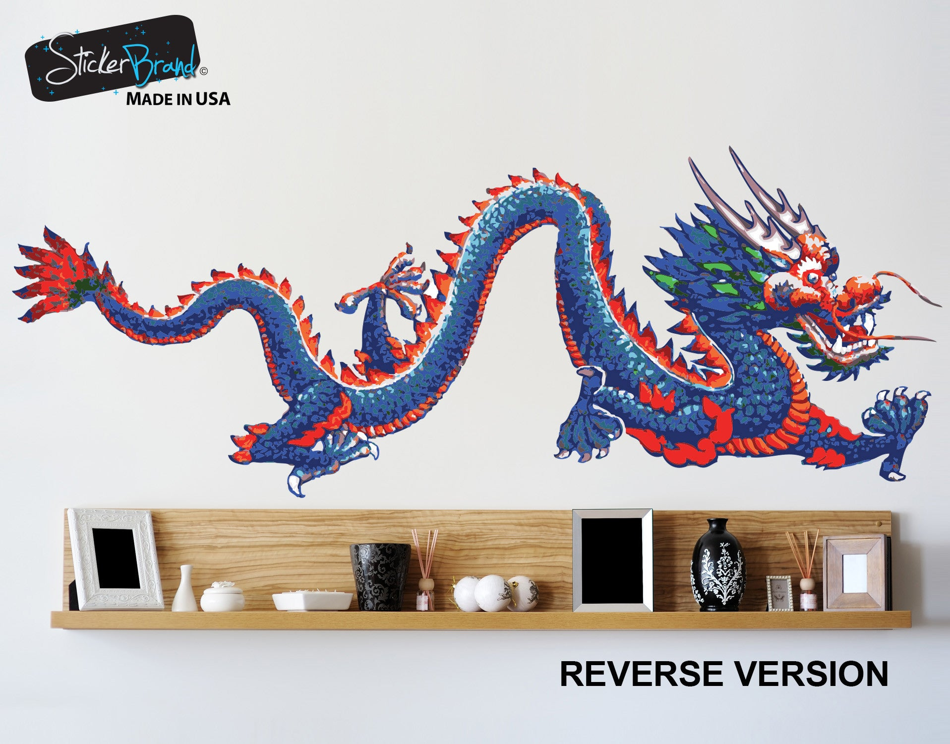 Chinese Dragon Wall Decal Dragon Wall Sticker - Custom vinyl wall decals dragon