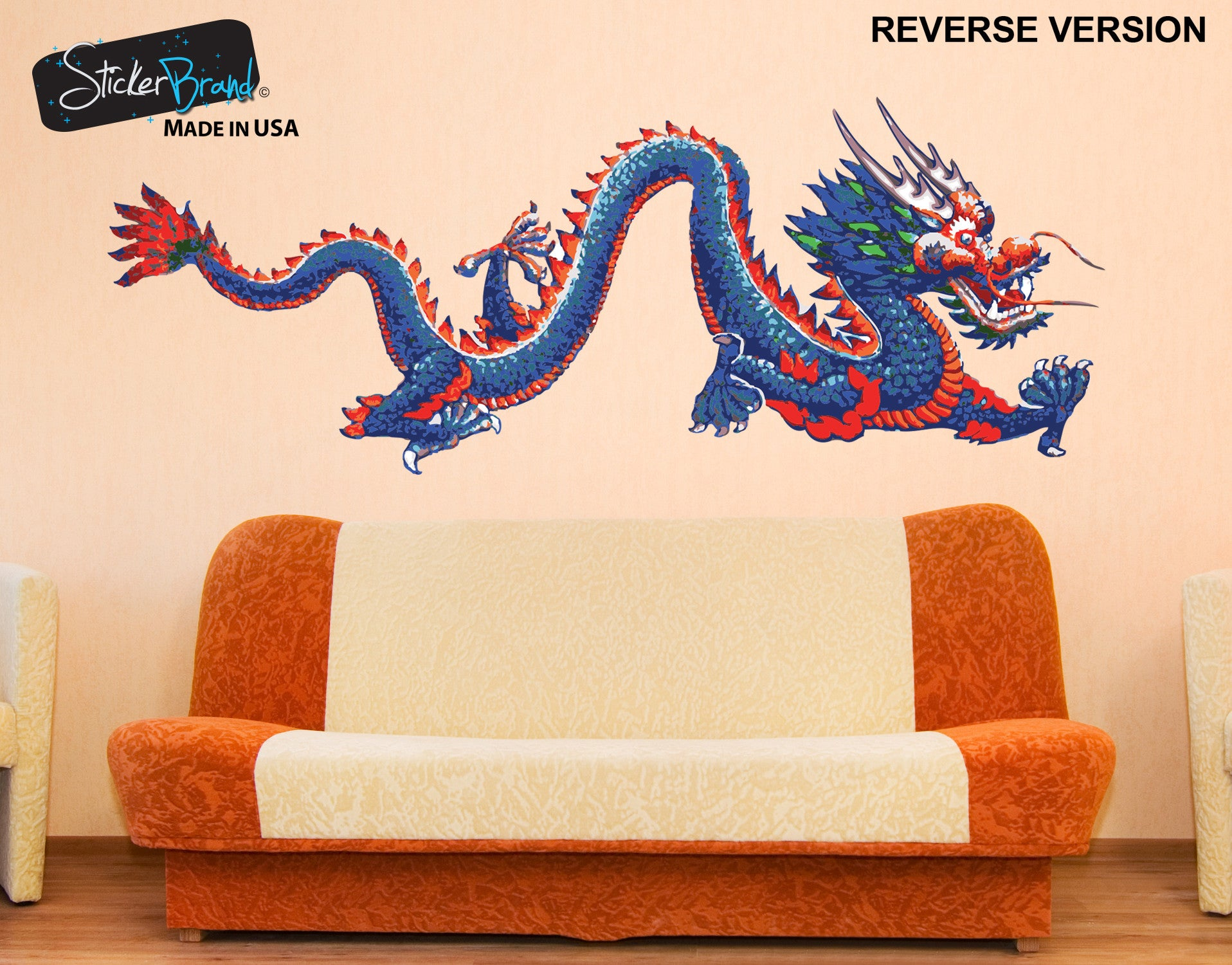 Chinese Dragon Wall Decal | Dragon Wall Sticker