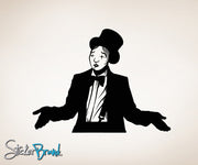 Vinyl Wall Decal Sticker Circus Clown Mime #OS_MB178