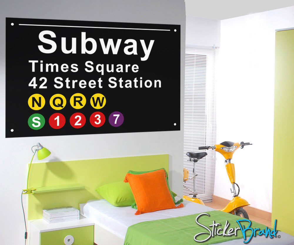 Graphic Wall Decal Sticker Nyc Subway Signs Os Es106