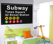Graphic Wall Decal Sticker NYC Subway Signs #OS_ES106