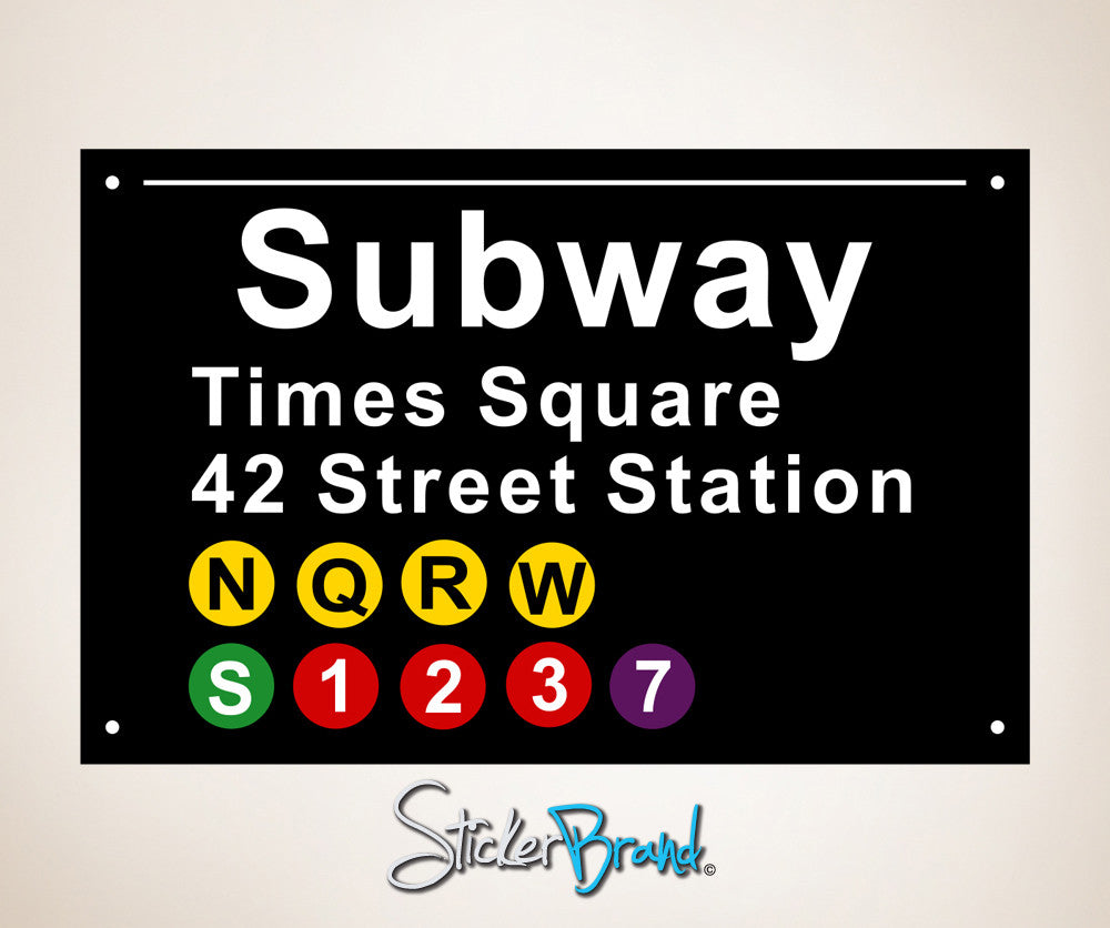 Nyc Subway Map Bedroom Wall Decal.Graphic Wall Decal Sticker Nyc Subway Signs Os Es106