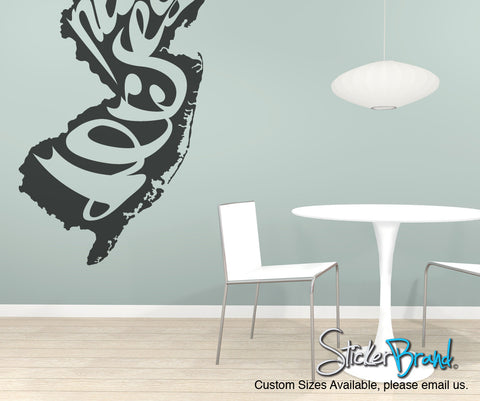 Vinyl Wall Decal Sticker New Jersey #OS_MB200