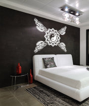 Vinyl Wall Decal Sticker Ying Yang Pattern #OS_AA1009