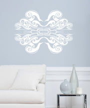 Vinyl Wall Decal Sticker Abstract Wave Pattern #OS_AA1010