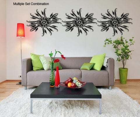Vinyl Wall Decal Sticker Abstract Flower Pattern #OS_AA1033