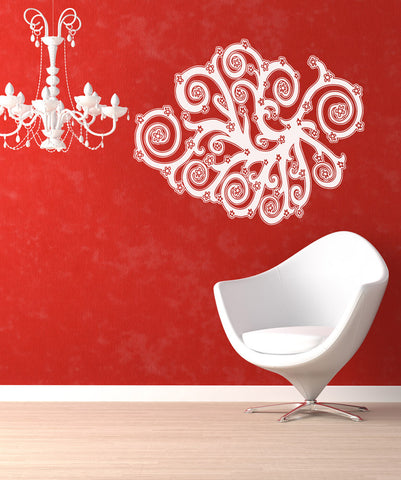 Vinyl Wall Decal Sticker Blossoms Vines #OS_AA1046
