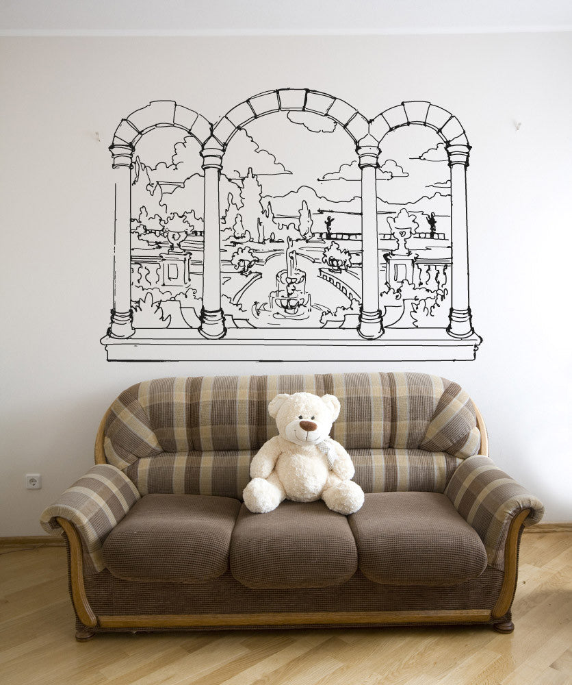 & Vinyl Wall Decal Sticker Castle Window View #OS_AA1067