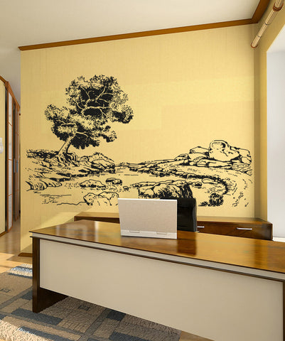 Vinyl Wall Decal Sticker Tranquil Forest #OS_AA1072