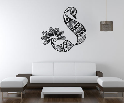 Vinyl Wall Decal Sticker Henna Bird #OS_AA1097