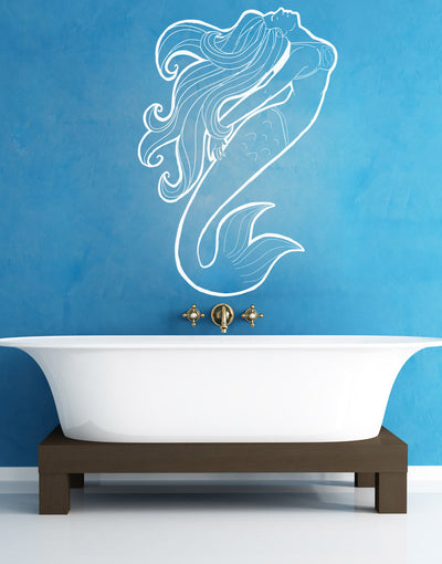 Vinyl Wall Decal Sticker Swimming Mermaid #OS_AA1103
