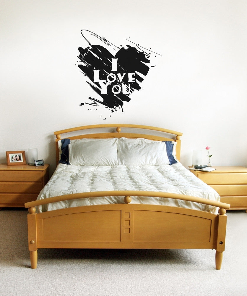 Vinyl Wall Decal Sticker I Love You Heart #OS_AA1119