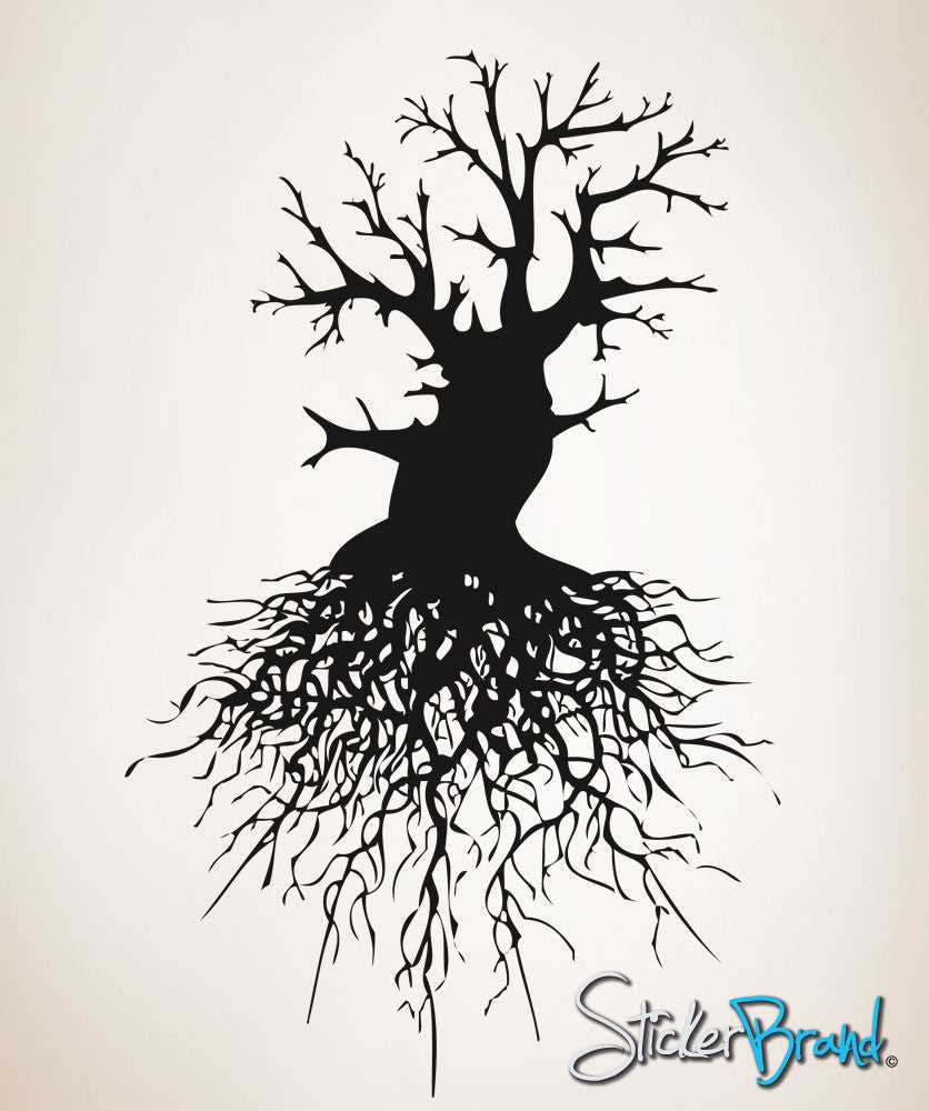 Vinyl Wall Decal Sticker Tree Roots #OS_AA111