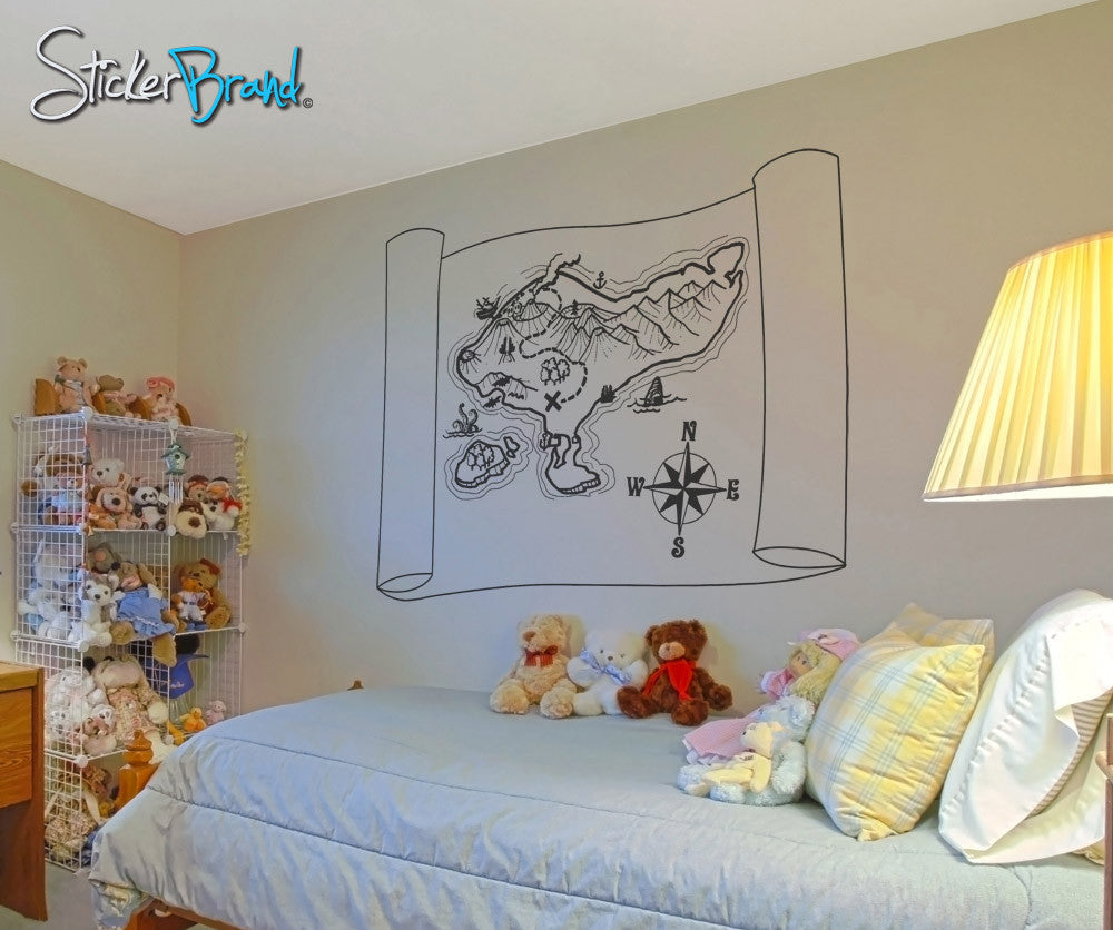 Vinyl wall decal sticker pirate map osaa112 amipublicfo Gallery