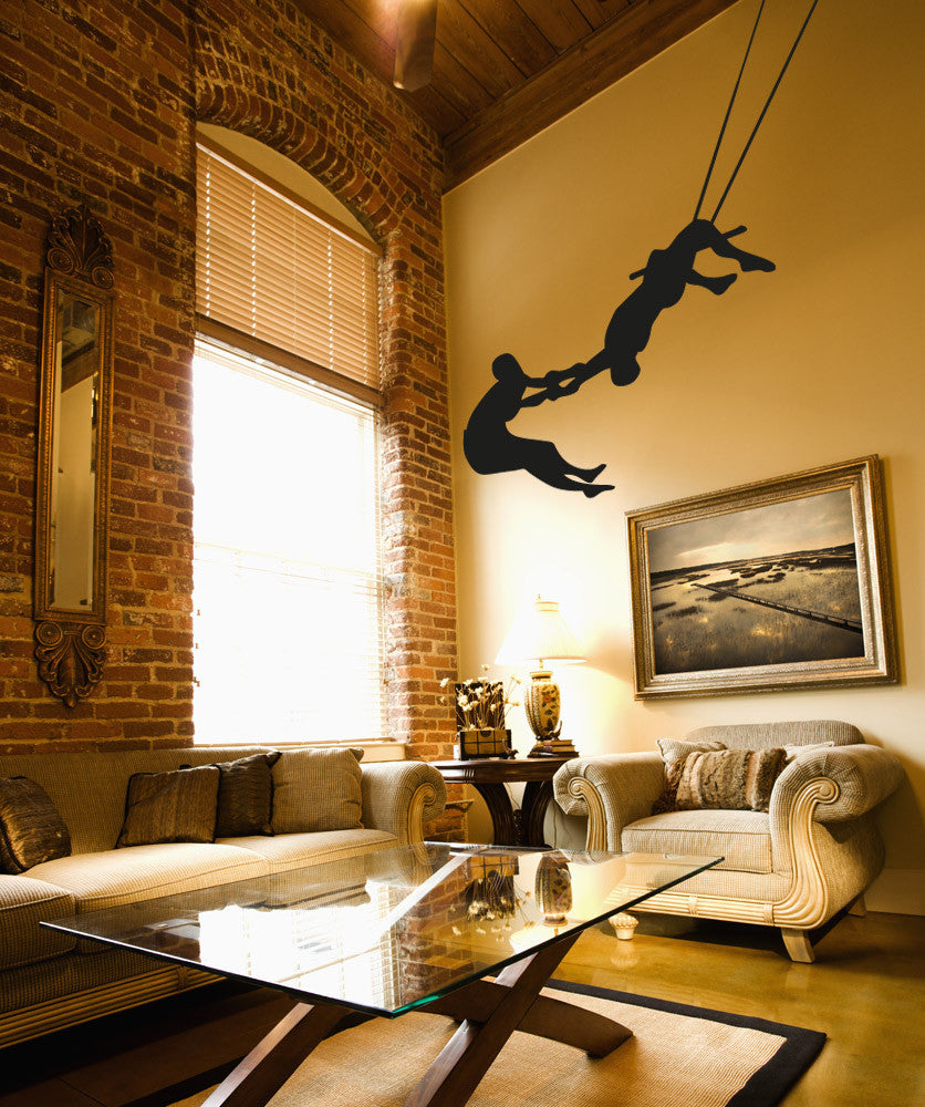 Vinyl Wall Decal Sticker Trapeze Act #OS_AA1186