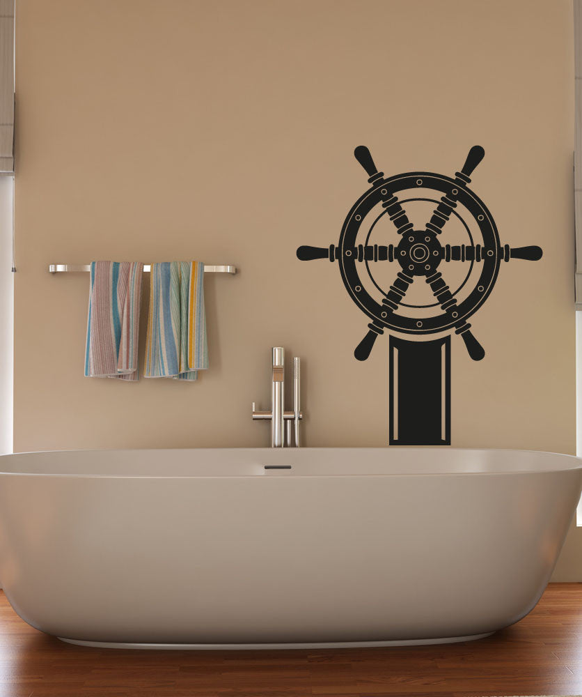 Vinyl Wall Decal Sticker Ship Wheel #OS_AA1197