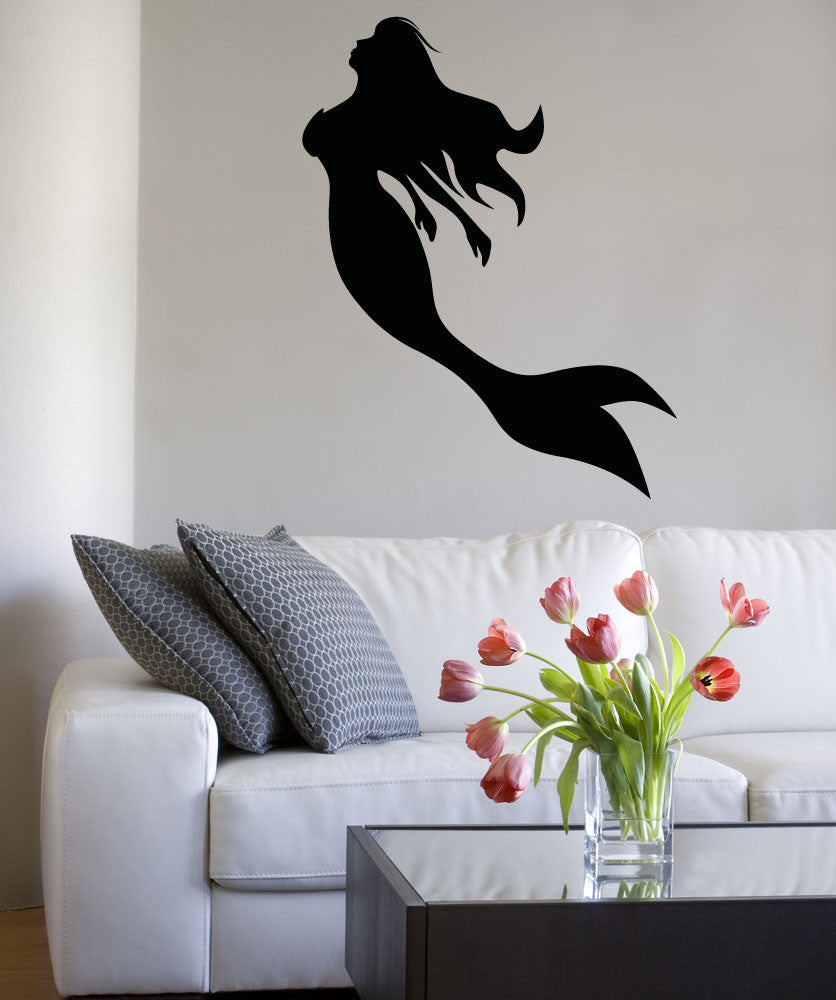Mermaid Silhouette Wall Decal Sticker Os Aa1207