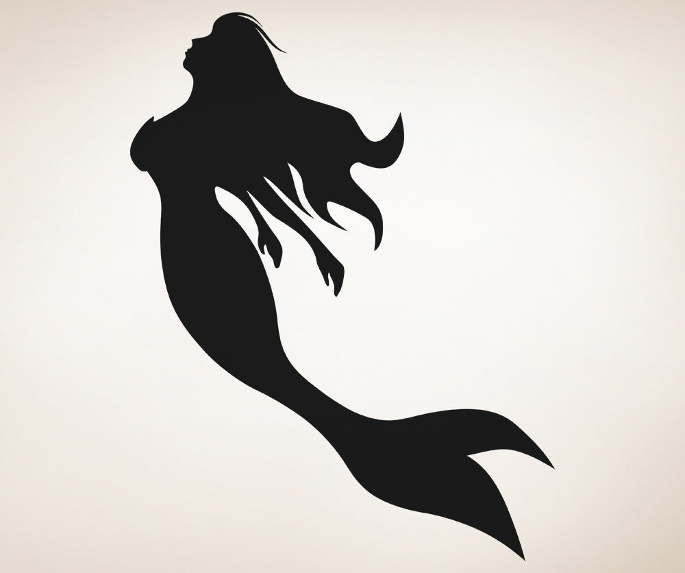 vinyl wall decal sticker mermaid silhouette os_aa1207