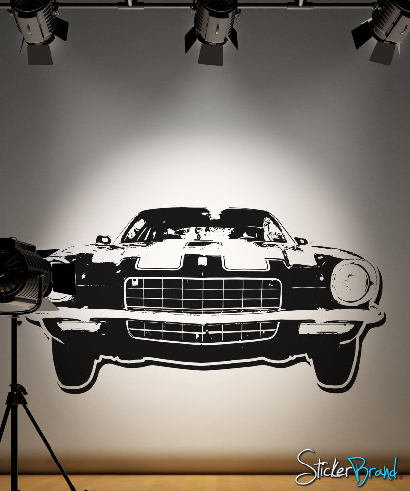 Vinyl Wall Decal Sticker 70s inspired car #OS_AA122