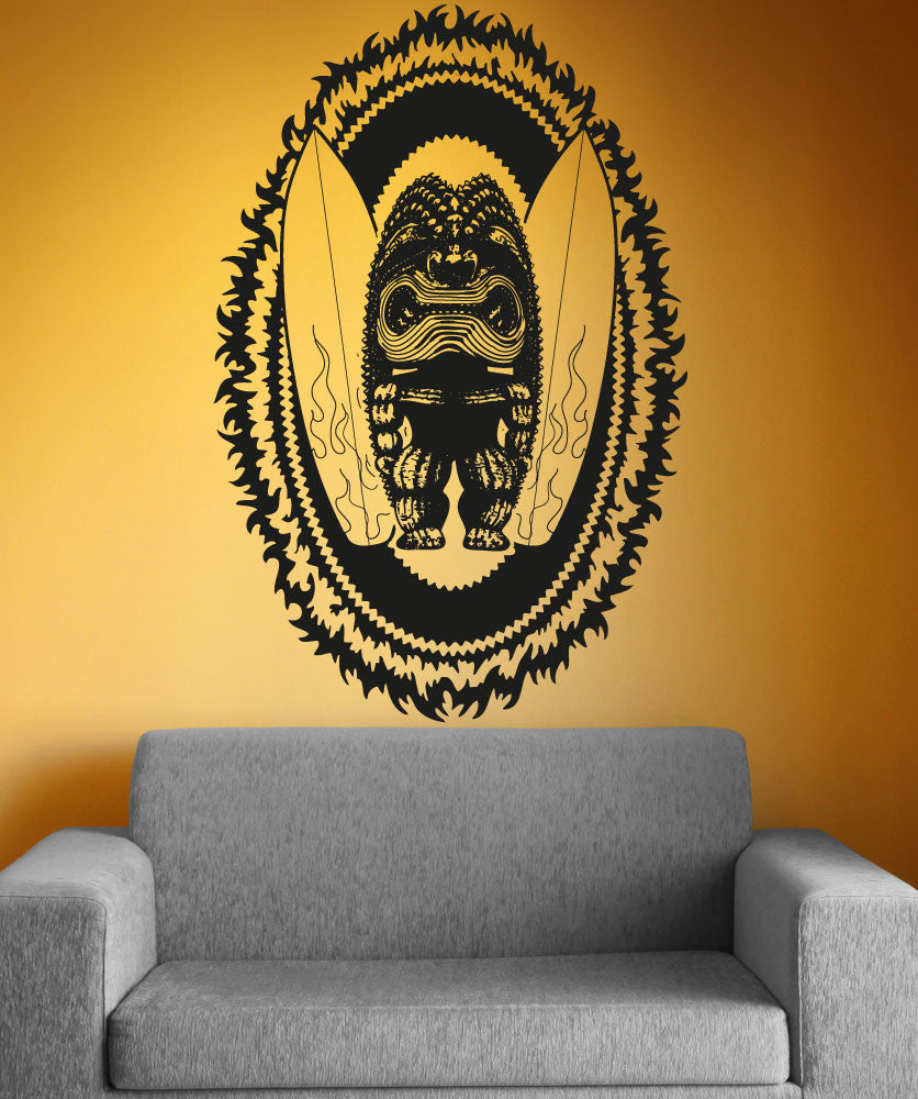 Vinyl wall decal sticker tiki surf god osaa1237 amipublicfo Gallery