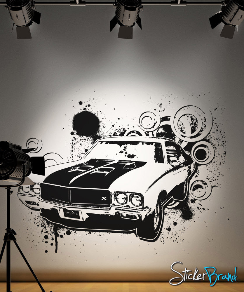 Vinyl Wall Decal Sticker 70 S American Muscle Car Os Aa123
