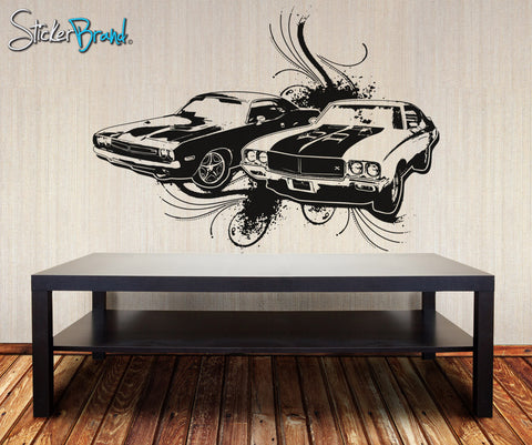 1970's American Muscle Car Vinyl Wall Decal Sticker. #OS_AA124