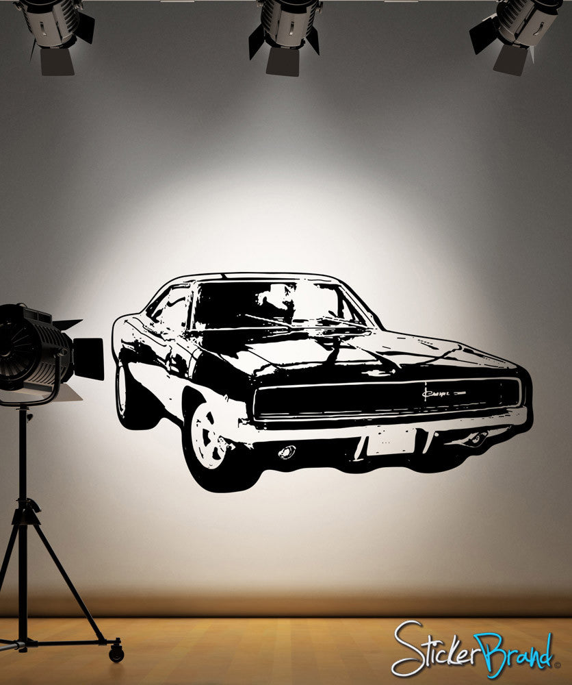 Vinyl Wall Decal Sticker 70's Inspired Car #OS_AA125
