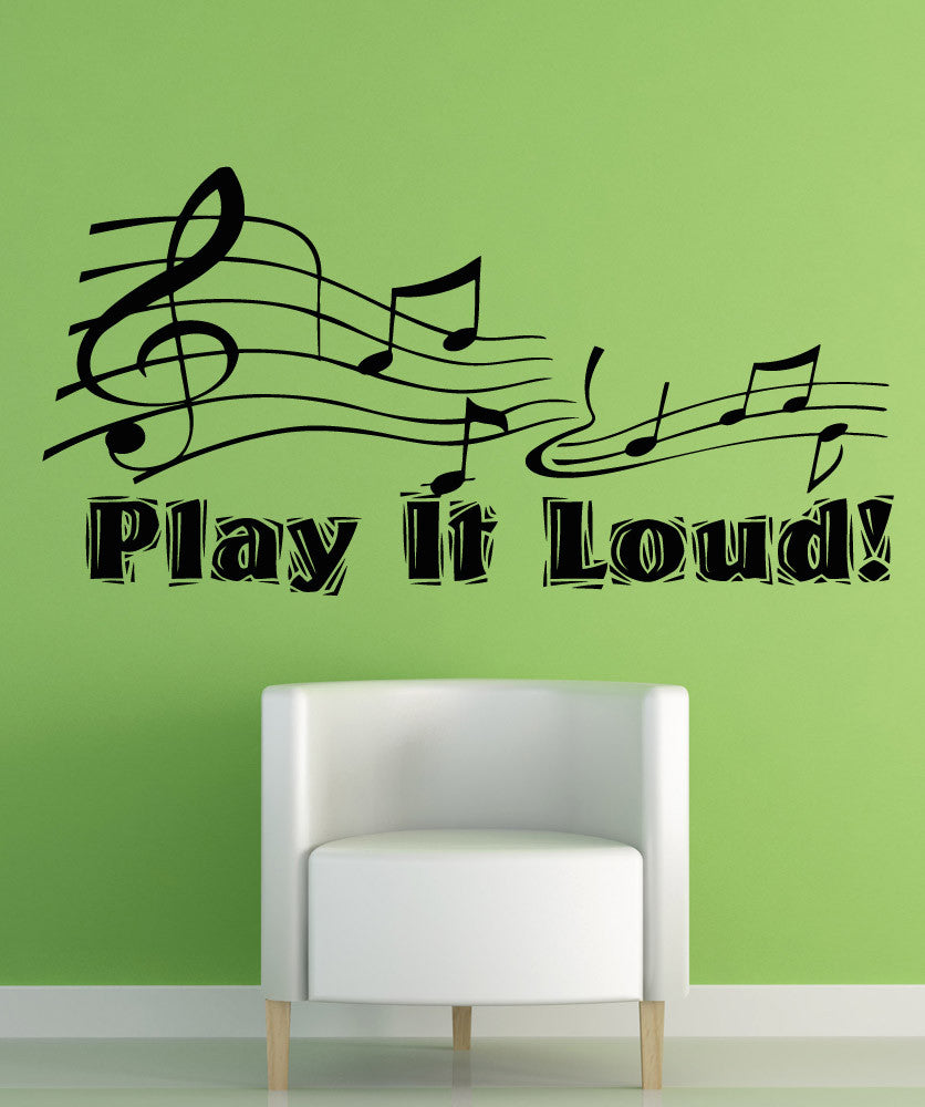 Inspirational quotes wall decals inspirational wall stickers vinyl wall decal sticker play it loud osaa1277 amipublicfo Image collections