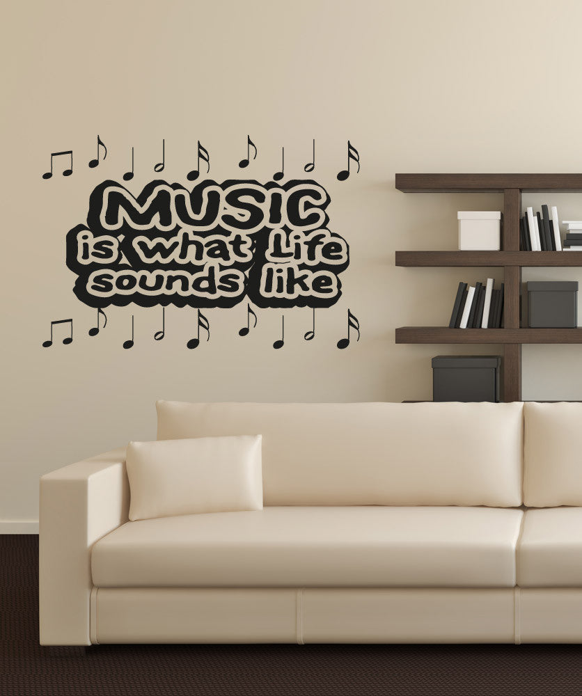 Vinyl Wall Decal Sticker Music Sounds Like #OS_AA1279