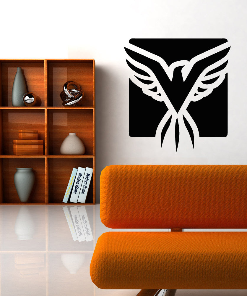 Vinyl Wall Decal Sticker Eagle Square #OS_AA1293