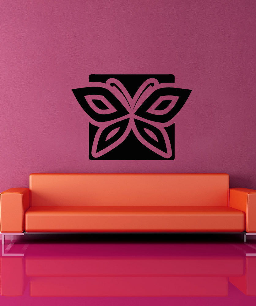 Vinyl Wall Decal Sticker Butterfly Square #OS_AA1294