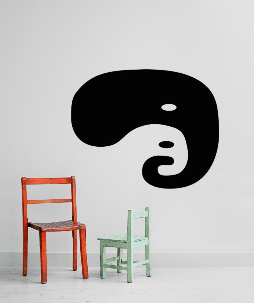 Vinyl Wall Decal Sticker Abstract Elephant Yin Yang #OS_AA1295