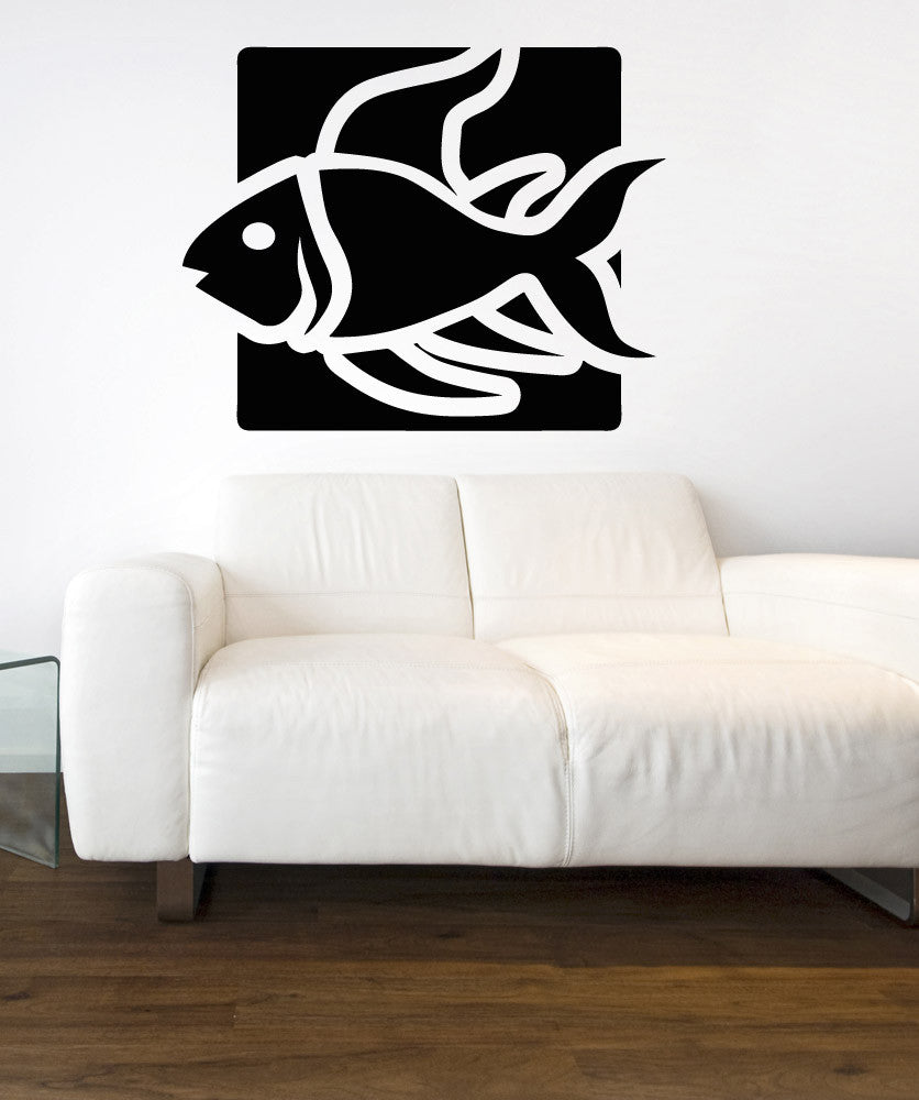 Vinyl Wall Decal Sticker Beta Fish Square #OS_AA1298