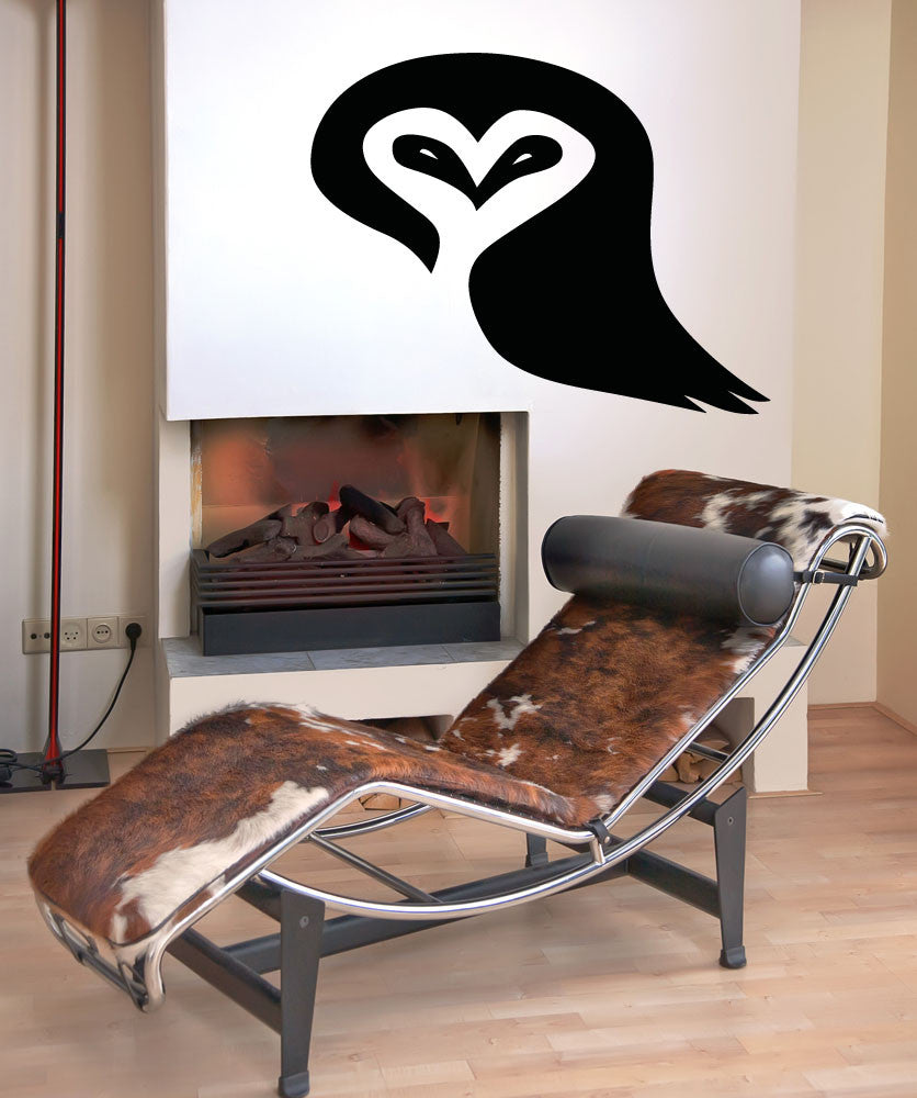 Vinyl Wall Decal Sticker Heart Owl #OS_AA1301