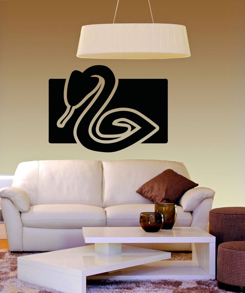 Vinyl Wall Decal Sticker Snake Square #OS_AA1306