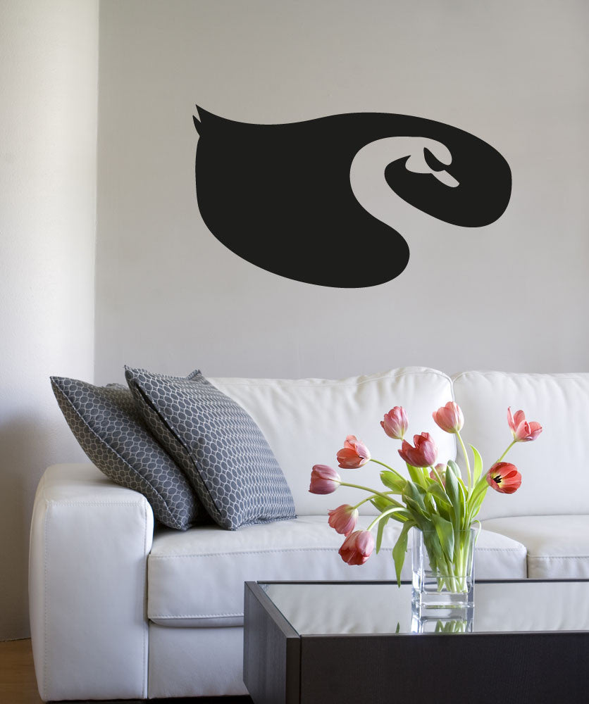 Vinyl Wall Decal Sticker Swan Design #OS_AA1307