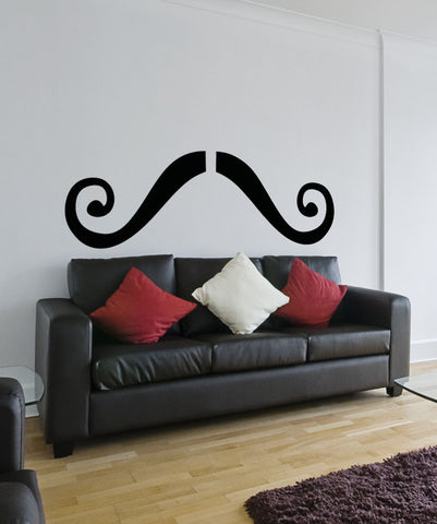 Vinyl Wall Decal Sticker Curly Mustache #OS_AA1321