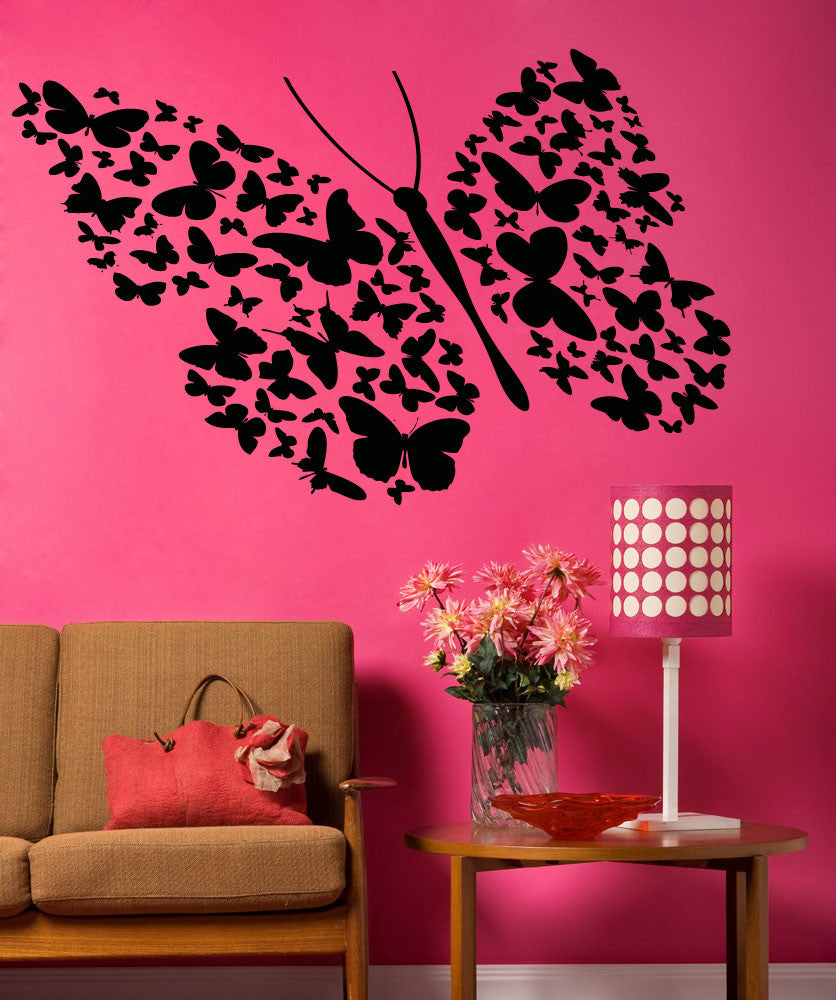 Vinyl Wall Decal Sticker Many Butterflies #OS_AA1335