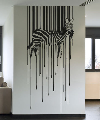 Vinyl Wall Decal Sticker Drippy Zebra #OS_AA1337