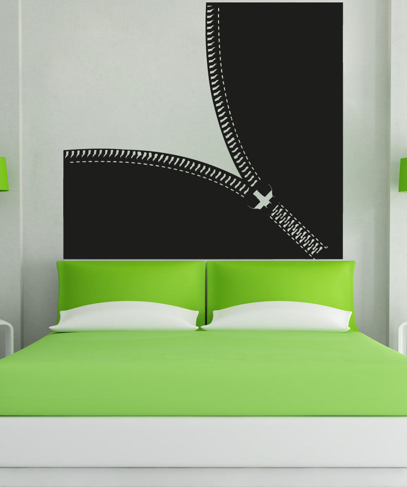 Vinyl Wall Decal Sticker Opening Diagonal Zipper #OS_AA1341