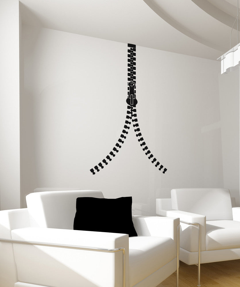 Vinyl Wall Decal Sticker Closing Zipper #OS_AA1344