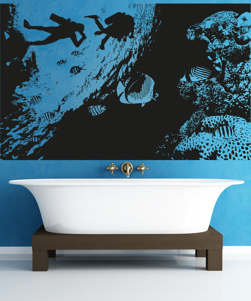 Vinyl Wall Decal Sticker Undersea View #OS_AA1374