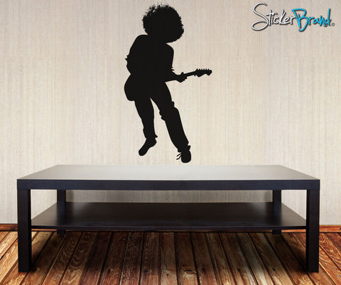Vinyl Wall Decal Sticker 70's Inspired Guitar Player #OS_AA137