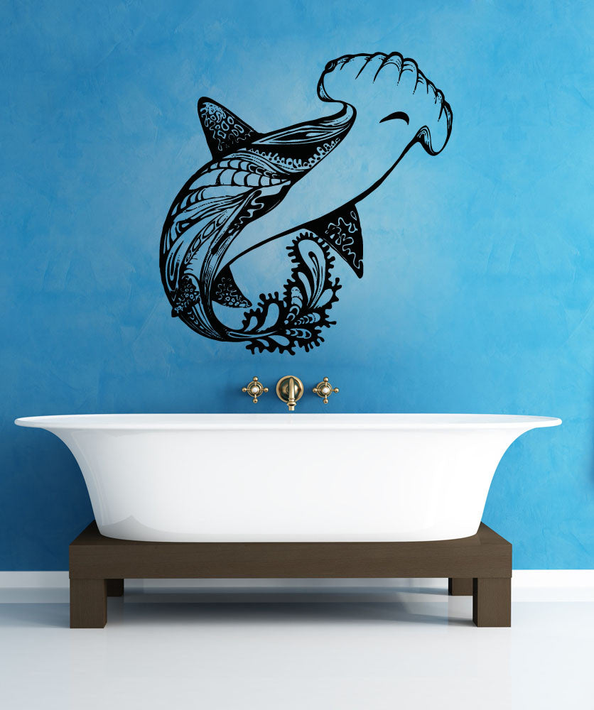 Vinyl wall decal sticker abstract hammerhead osaa1382 amipublicfo Image collections