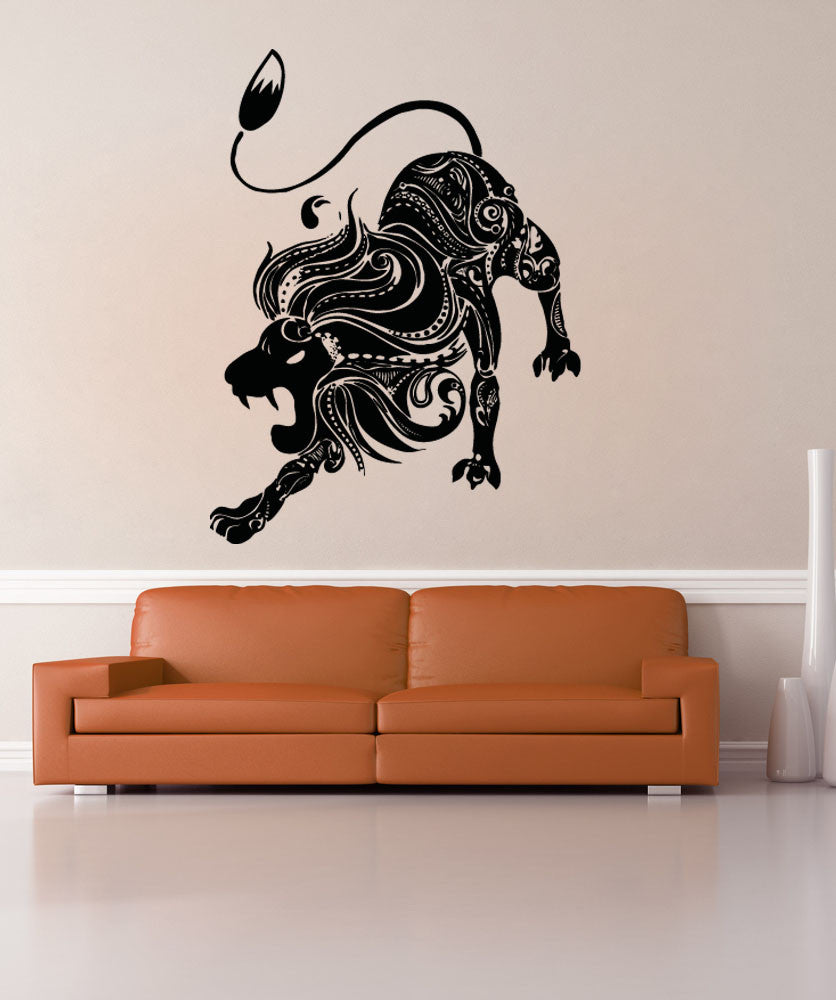 Vinyl Wall Decal Sticker Abstract Lion #OS_AA1383