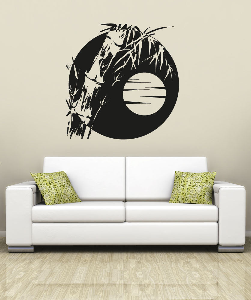 sc 1 st  StickerBrand & Vinyl Wall Decal Sticker Bamboo Sun #OS_AA1389