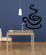 Vinyl Wall Decal Sticker Coffee Swirl #OS_AA1417
