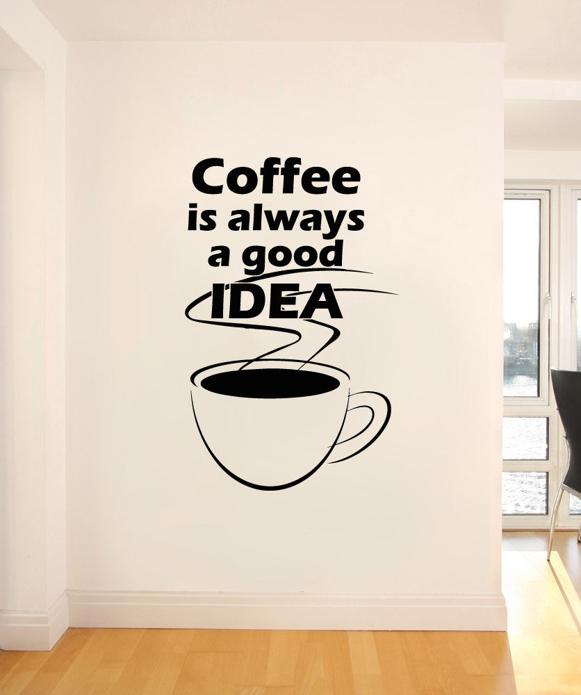 Vinyl Wall Decal Sticker Coffee Idea #OS_AA1421