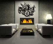 Vinyl Wall Decal Sticker 70's Inspired Motorcycle #OS_AA146