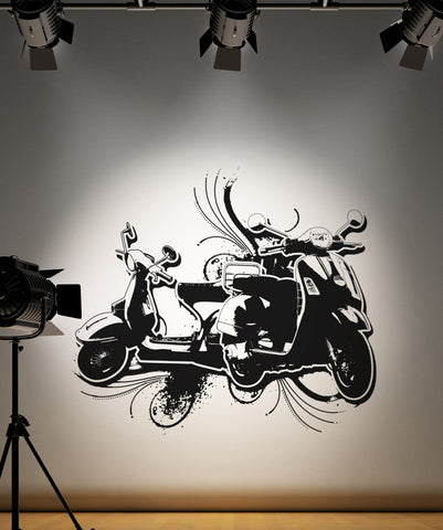 Vinyl Wall Decal Sticker Double Scooters #OS_AA149